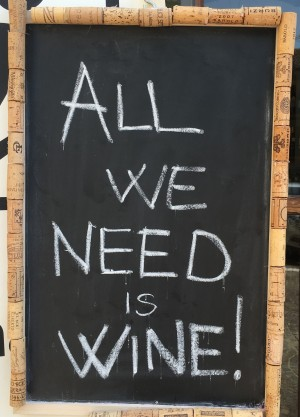 all we need is wine